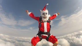 Skydiving Santa claus