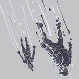 skydiving Stile di abbozzo Immagine Stock Libera da Diritti