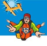 skydiving tandemcykel Royaltyfri Bild