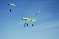 Skydiving Team 5 Royalty Free Stock Images