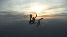Skydiving video. stock footage