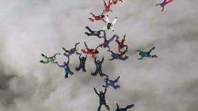 Skydiving video. stock video footage