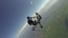 Skydiving video. stock footage