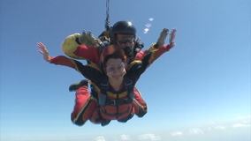 Skydiving video. Stock Photography