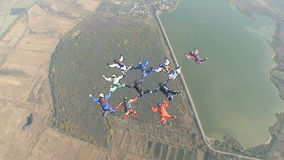 Skydiving video. stock video footage