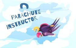 Skydivingsinstructeur Abstract Poster royalty-vrije illustratie
