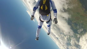 Skydivingsvideo stock footage