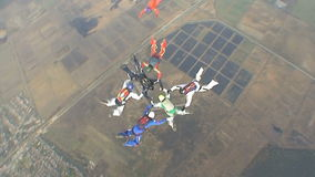 Skydivingsvideo stock footage