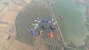 Skydivingsvideo stock videobeelden