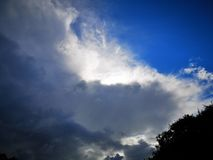 Skydream storm clouds sun royalty free stock images