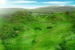 skye海岛scottland的幽谷神仙 免版税图库摄影