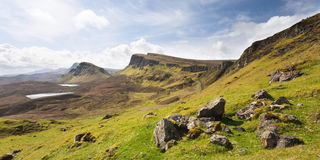 skye Шотландии quirang острова Стоковое Изображение RF