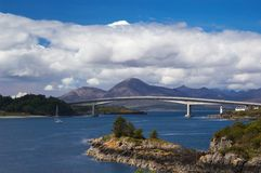 Skye bridge royalty free stock images