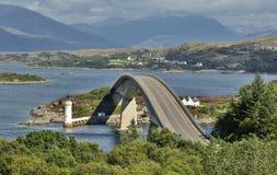 Skye Bridge Isle av Skye, Skottland Royaltyfria Foton