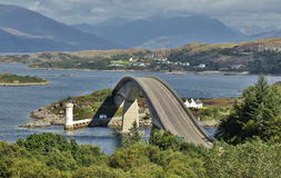 Skye Bridge Isle de Skye, Escócia fotos de stock royalty free
