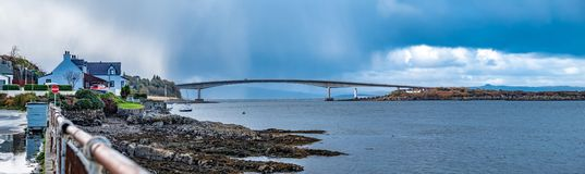 Skye Bridge - Isle of Skye, Scotland. Skye Bridge between Kyle of Lochalsh and the Isle of Skye, Scotland royalty free stock photo