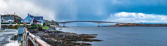 Skye Bridge - Isle of Skye, Scotland. Skye Bridge between Kyle of Lochalsh and the Isle of Skye, Scotland stock images