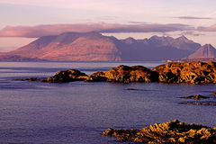 Skye landscape. Shot of the Cullin mountains on the isle of Skye royalty free stock photos