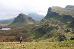 Skye Landscape. Detail of the Trotternish range viewed from the Quiraing, Isle of Skye Royalty Free Stock Photos