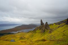 Skye Panorama Old Man Of Storr fotos de archivo libres de regalías