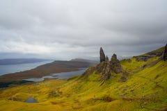 Skye Panorama Old Man Of Storr lizenzfreie stockfotos