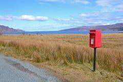 Skye Postbox Arkivfoton