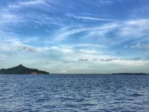 Skyen är blått Arkivfoto