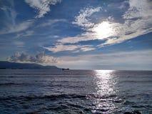 Skyen är blått Fotografering för Bildbyråer