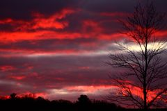 Skyen avfyrar på Royaltyfri Foto