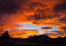 Skyen avfyrar på Arkivbilder