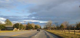 Skyen efter regnar fotografering för bildbyråer