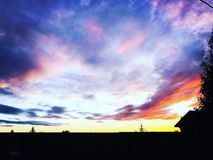 Skyen efter regnar royaltyfri fotografi