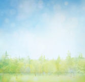 skyen för showen för växter för rörelse för den förfallna för fältet för blueoklarhetsdagen ligganden för fokusen fulla gröna var Royaltyfri Fotografi
