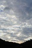 Skyes luminosi della nuvola Fotografia Stock