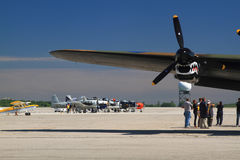 The SkyFest 2014 organized for Fathers Day in progress Royalty Free Stock Photography