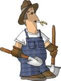 skyffel för 2 bonde stock illustrationer