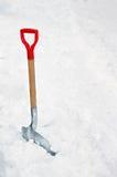 Skyffel i snö Fotografering för Bildbyråer