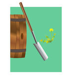 Skyffel och trumma Arkivbild