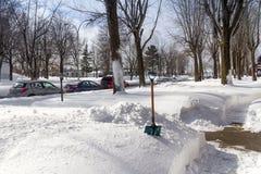 Skyffla för vinter Fotografering för Bildbyråer