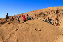 Skyffla gruvarbetare Royaltyfri Fotografi