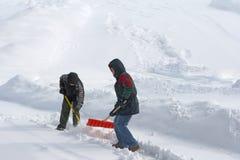 Skyffla Snow Fotografering för Bildbyråer