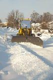 skyffla snowtraktoren Arkivbilder