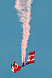 SkyHawks Canadian Parachute Demonstration Team Royalty Free Stock Photography
