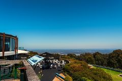 Skyhigh restaurant at Mount Dandenong. SkyHigh is one of Victoria's premier tourist attractions. At an elevation of 630m, it is the highest natural viewing Royalty Free Stock Image