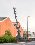 Skyhook sculpture in Manchester Royalty Free Stock Photo