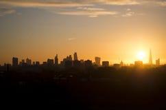 Skyine van Londen Stock Foto's