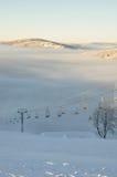 Skying kurort w skying kurorcie zdjęcie royalty free