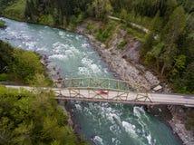 Skykomish river. The Skykomish river and a bridge in northwestern Washington state, USA royalty free stock images