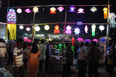 Skylantern Shop. A shop selling traditional sky lanters on the ocassion of Diwali festival in India Stock Images