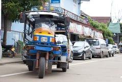 Skylap en typ av offentligt trans. i Pakse, Laos Arkivbild